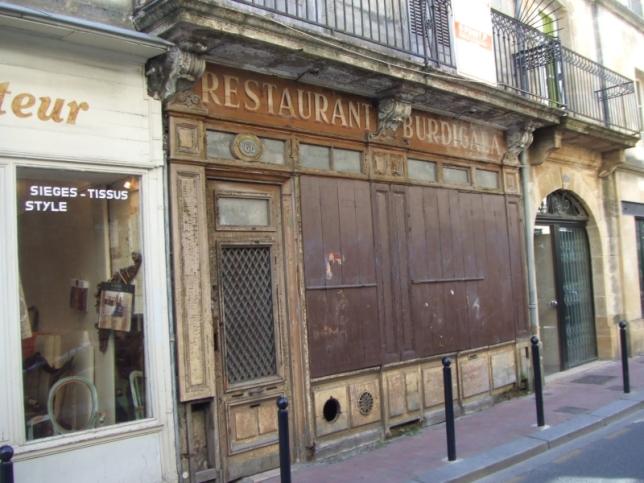 closed restaurant in the center